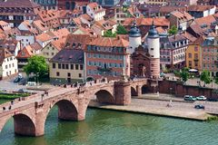 The Old Bridge Heidelberg Germany Royalty Free Stock Photography