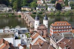 Old Bridge of Heidelberg, Germany Royalty Free Stock Photos