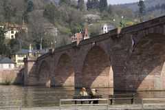 Old Bridge in Heidelberg Stock Image