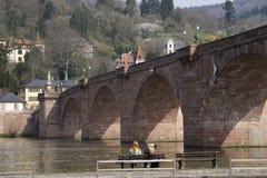 Old Bridge in Heidelberg Stock Image