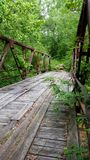 Old bridge on Jack Glass Royalty Free Stock Images