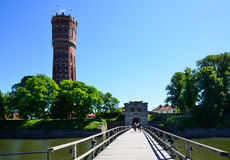 Old bridge into Kalmar city Royalty Free Stock Photography