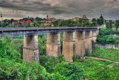 Old bridge in Kamianets-Podilskyi Stock Photos