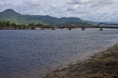 Old bridge in Kampot Stock Photo