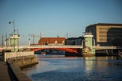 Old bridge Knippels bridge in Copenhagen habor. Denmark stock photos