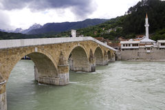 Old Bridge in Konjic, Bosnia and Herzegovina. Old Bridge, Ottoman era, in Konjic, Bosnia and Herzegovina Royalty Free Stock Images