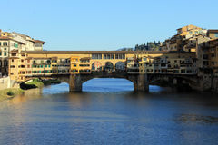Old bridge. And Lake Arno Stock Photography
