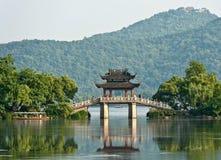 Old bridge in a lake, China Stock Image