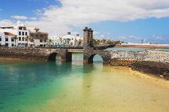 Old bridge in Lanzarote Royalty Free Stock Photography