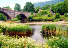 Old bridge at Llanrwst Royalty Free Stock Photography