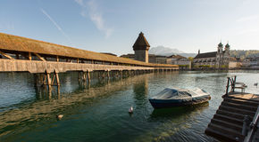 Old bridge. In Lucerne, Switzerland stock photography