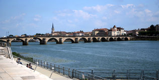 Old bridge of Lyon Stock Photography