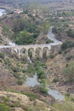 Old bridge in Mértola - Portugal. Old bridge and small river in Mértola Royalty Free Stock Image