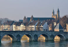 Old bridge in maastricht. Holland Stock Photos