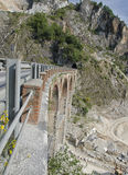 Old bridge of mine marble Stock Photo
