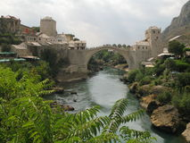 An old bridge in Mostar Royalty Free Stock Photography