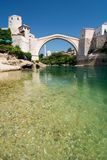 The old bridge in Mostar Royalty Free Stock Photo