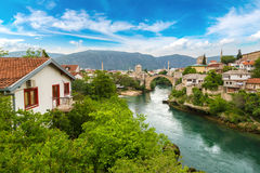 The Old Bridge in Mostar Stock Photos