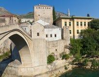 Old Bridge in Mostar, Bosnia and Herzegovina. Stari Most, the Famous Old Bridge in Mostar, Bosnia and Herzegovina Royalty Free Stock Photos