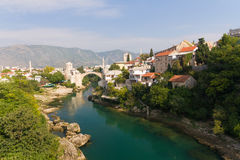 Old Bridge of Mostar, Bosnia and Herzegovina Royalty Free Stock Images