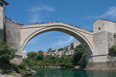 Old bridge in Mostar Stock Image