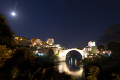The Old Bridge in Mostar Royalty Free Stock Photos