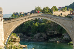 The Old Bridge in Mostar Stock Photography