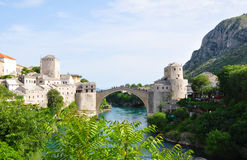 Old Bridge in Mostar Stock Photo
