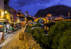 Old Bridge in Mostar - Bosnia and Herzegovina Royalty Free Stock Photo