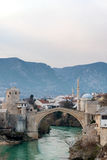 Old bridge in Mostar Bosnia and Herzegovina Royalty Free Stock Images