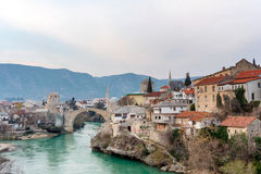 Old bridge in Mostar Bosnia and Herzegovina Royalty Free Stock Photography