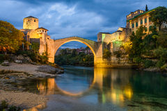 Old Bridge in Mostar, Bosnia and Herzegovina Stock Image