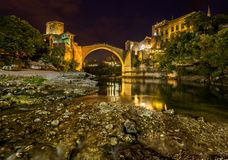 Old Bridge in Mostar - Bosnia and Herzegovina Royalty Free Stock Photography