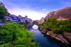The Old Bridge in Mostar, Bosnia and Herzegovina Royalty Free Stock Images