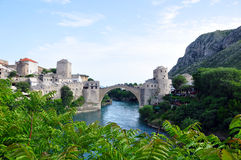 Old Bridge in Mostar, Bosnien-Herzegowina Stock Photography