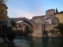Old bridge mostar Royalty Free Stock Image