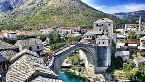 The Old Bridge Mostar stock photo