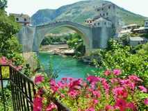Old bridge in Mostar Royalty Free Stock Photography