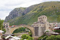 Old Bridge in Mostar Stock Photography
