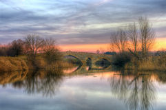 The old bridge near Balgarene village, Bulgaria Royalty Free Stock Photo