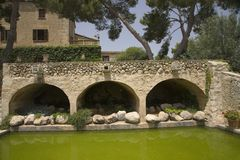Old bridge near Castle de Bellver, Majorca, Spain, Europe, Balearic Islands, Mediterranean Sea, Europe Stock Image