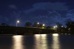 The Old Bridge at Night. Fitzroy River Bridge the old bridge at Night Royalty Free Stock Photos
