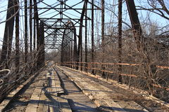 Old Bridge out side Oolagah Oklahoma Royalty Free Stock Images