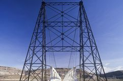 An old bridge over the Colorado River in Southern Utah Royalty Free Stock Images
