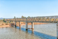 Old bridge over the Gamtoos River Stock Photo