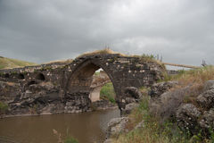 Old bridge over Jordan river Stock Photography