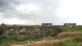 Old bridge over Jordan river Royalty Free Stock Images
