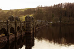 Old Bridge over Lake Vyrnwy in North Wales, UK Royalty Free Stock Images