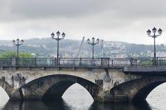 Old Bridge. Over the Lerez river in Pontevedra (Spain Royalty Free Stock Image