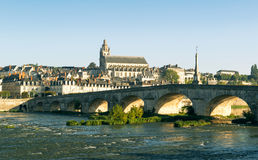 Old bridge over the Loire in Blois, France. Stock Photography